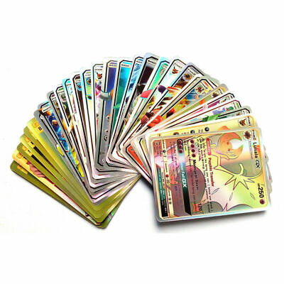 60 GX Cards For Pokemon Bundle Charizard Trading Holo Flash Card Kid Toy UK