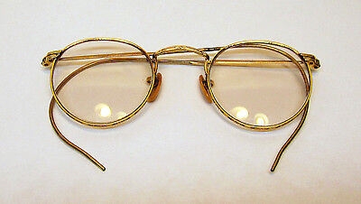 Antique FULVUE 1/10 12 K GF Wire Frame Glasses with Case