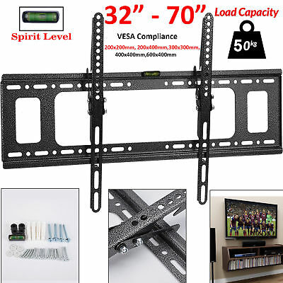 "TV Wall Bracket Mount Tilt For 32 35 40 42 43 49 50 55 60 65 70"" Inch Plasma LCD"