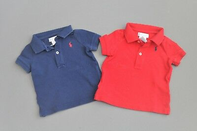 Ralph Lauren Red Blue 4th of July polo Set, Size 6 Months