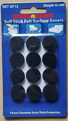 12 Pack 19mm Extra Thick Black Felt Self-Stick Surface Savers AusPost Melbourne