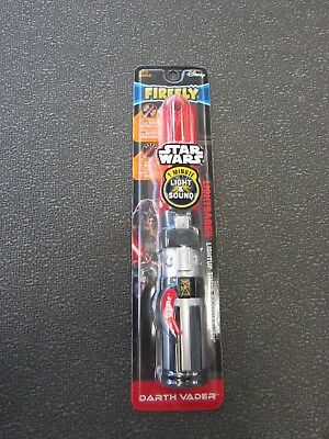 "Firefly Disney Star Wars Light Saber ""Light-Up 1 Minute Timer"" Toothbrush DARTH"