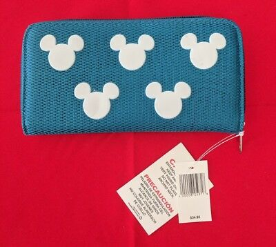 Disney Wallet - Turquoise Woven Mickey Icon – New