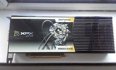 NVIDIA GeForce XFX 9800 GX2 1 GB GDDR3 SDRAM PCI Express 20 Graphics Card