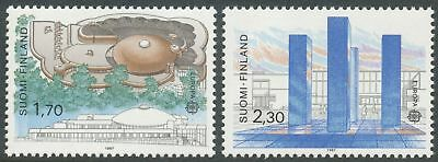 Finland 1987 MNH Set of 2 EUROPA CEPT Stamps - Modern Architecture