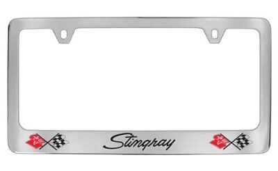Chevrolet Corvette C1 Chrome Plated Metal License Plate Frame Holder