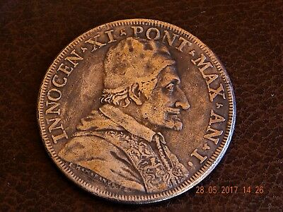 Papal States Coin of 1676 by Innocent XI-scudo