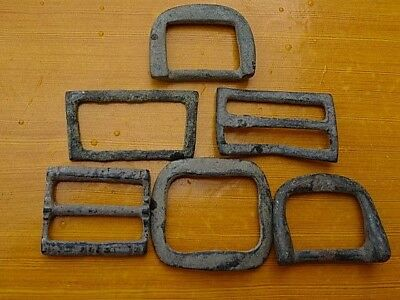 Lot of 6 Authentic Byzantine Medieval Bronze Buckles Circa 600-1100 AD / RARE