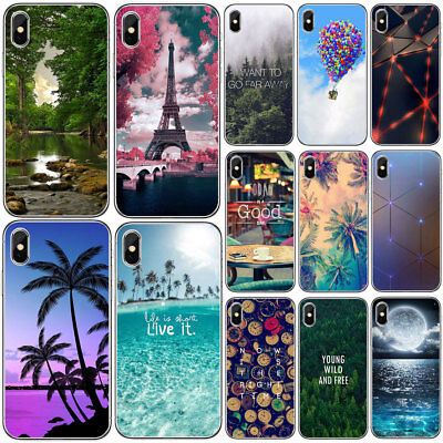 For Iphone 6 6S 7 8 PLUS X Pattern Ultra Thin Soft Silicone TPU Phone Case Cover