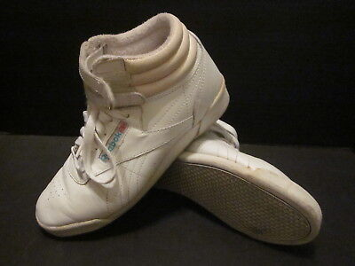 lower price with classic shoes fashionable and attractive package VTG REEBOK CLASSIC High Tops White Freestyle Sneakers 80s ...