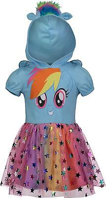 My Little Pony Rainbow Dash Toddler Girls' Costume Dress with Hood & Wings, Blue