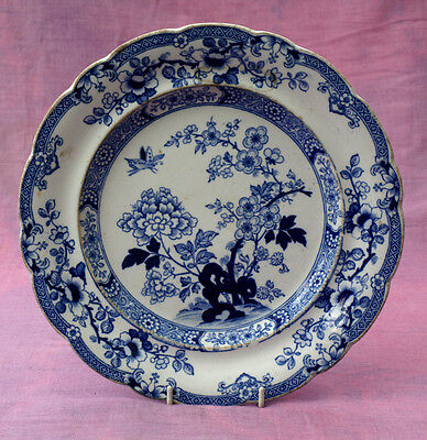 Victorian blue/white print 'Stone China' good backstamp. c.1860