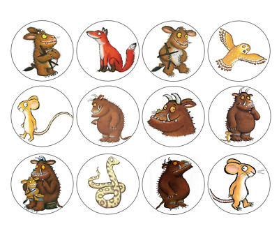 12/24/30/35/48/60/ Personalised - Gruffalo Cupcake Toppers - Rice Paper Birthday