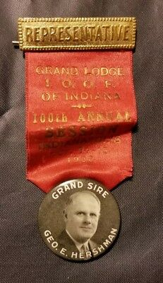 Vtg Bastian Brothers Grand Lodge of Indiana 100th Annual Session 1936 Grand Sire