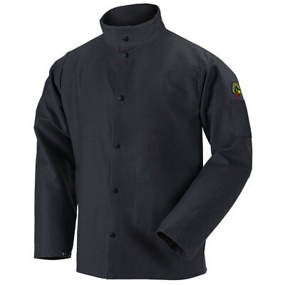 Flame Resistant Cotton Welding Jacket Black Size XL (Free Shipping Aust Wide)