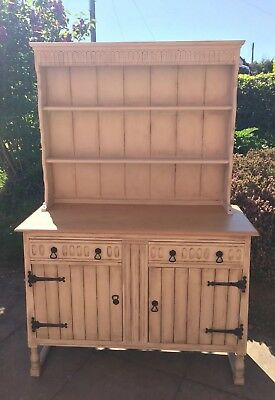 Painted Antique oak Welsh Dresser Shabby Chic oak sideboard