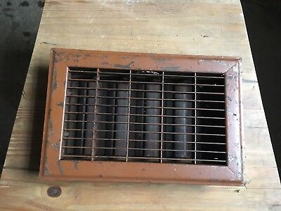 FURNACE REGISTER HEAT FLOOR GRATE  6 x 10 OPENING VINTAGE IRON COVER #4