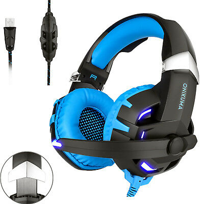 ONIKUMA K2 Stereo Bass Surround Gaming Headset for PS4 New Xbox One PC With Mic