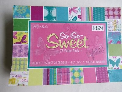 """""""So-So-Sweet"""" Craft Paper by the Paper Studio  25 designs,  4.5 x 6.5"""" 75 sheets"""