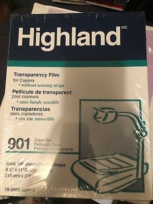 Highland Brand Transparency Film for Plain Paper Copiers 901 (300 8.5X11 Sheets)