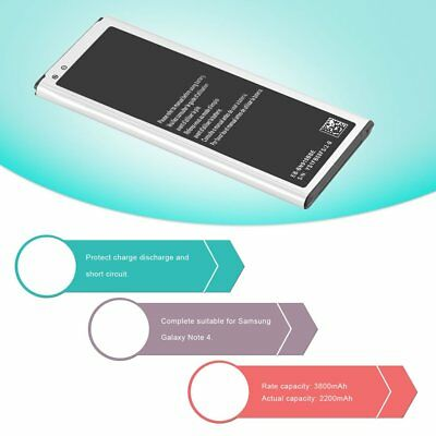 Replacement Battery for Samsung Galaxy Note 4 Rated Capacity 3800mAh 3.85V F7