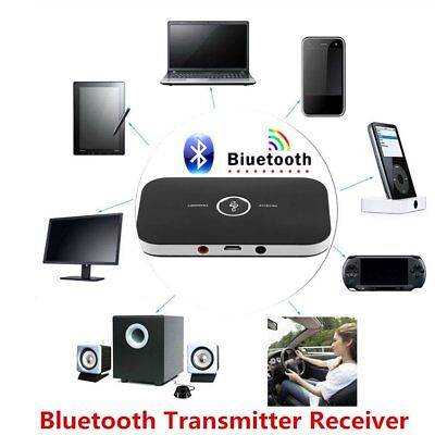 2 In 1 Wireless Stereo Audio Bluetooth Transmitter Receiver Adapter Black LOT AQ