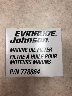 New In Box Evinrude Johnson Oil Filter PN 778864 for Inboard Engines