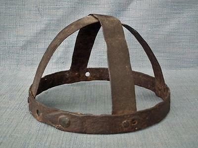 Antique 6th -17th century Cross-Band Helmet In The Type Of Spangenhelm to sword