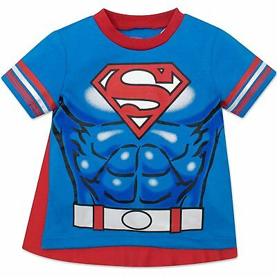 Warner Bros. Superman Toddler Boys' T-shirt with Cape, Blue