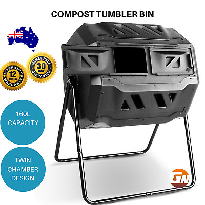Compost Tumbler Bin Food Waste Composter Aerated Container Recycling Food Waste