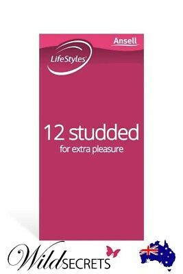 NEW Ansell LifeStyles Studded Latex Condoms (12 Pack), Sex Essential, Couple