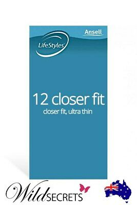 NEW Ansell LifeStyles Closer Fit Ultra Thin Latex Condoms (12 Pack), Couple