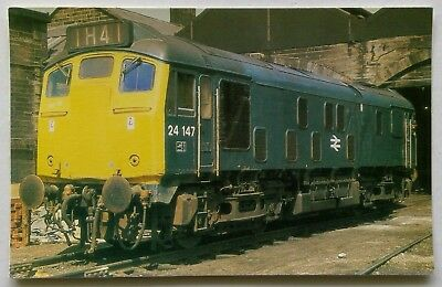 O.P.C. Collectors No.24 Class 24 Loco 24 1477 Motherwell 1970s Postcard (P309)