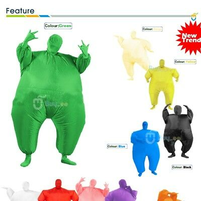 Fat Chub Suit Second Skin Inflatable Blow Up Full Body Fancy Dress Party Costume