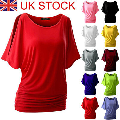 fd7685531a64 WOMENS BATWING Plus Size Baggy Top Jumper Jersey Ladies Long Sleeve ...
