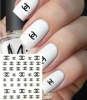 ❤️nouveau 45 Stickers Logo Marque Bijoux Ongles Water Decals Nail Art