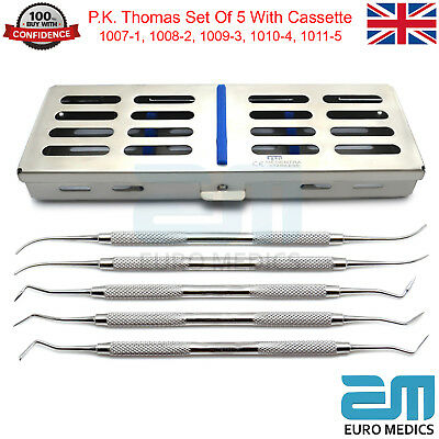 5Pcs Dental P.K. Thomas Carvers Dentistry Equipments Tools With Cassette FREE
