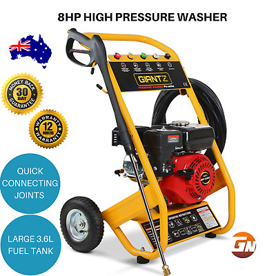 GIANTZ 8HP High Pressure Washer 4800PSI Petrol Water Gurney 20M Hose Cleaner
