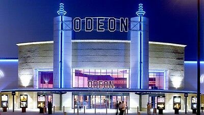 2 x Odeon cinema tickets Adult and Kids £11.95 All UK - INSTANT EMAIL DELIVERY