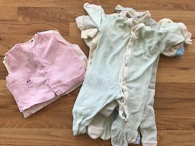 12 piece lot Vintage Baby Sleepers Shirts And Vests 50S 60S Embroidered