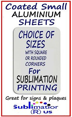 A3 A4 A5 or A6 COATED ALUMINIUM SHEETS for SUBLIMATION blank metal sheet blanks