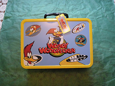 Woody Woodpecker Popcorn Metal Tin Container with ID Tag