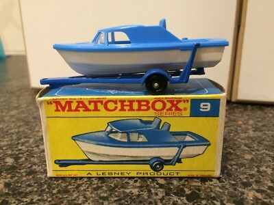 Matchbox Series No. 9 Boat and Trailer in Original Box