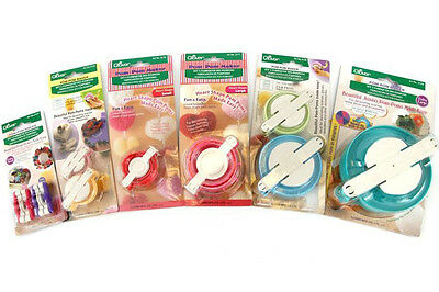 Clover Premium Quality Pom-Pom Makers Assorted Sizes And Styles