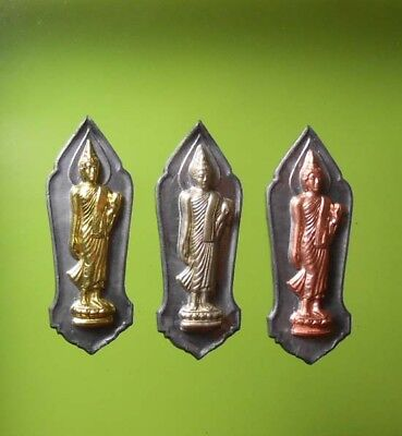 TOP! REAL 3 COINS 2500th ANNIVERSARY OLD THAI AMULET RARE !!!