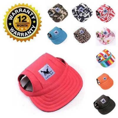Baseball Cap For Small Dogs Summer Outdoor Cute Pet Sun Visor Hat With Ear Holes
