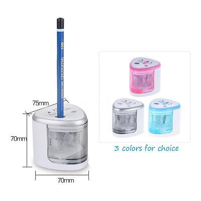 Auto Electric Pencil Sharpener Automatic Battery Operate Home Office School Y4L9