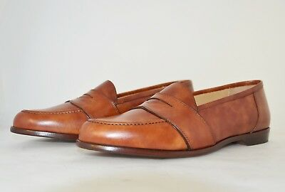 MAN-10eu-11usa-LOW VAMP PENNY LOAFER-MOCASSINO-RADICA BROWN-LEATHER SOLE