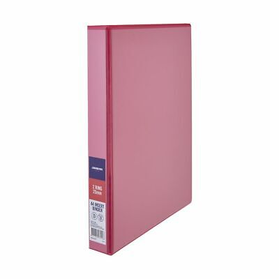 J.Burrows Insert Binder A4 2 D-Ring 25mm Pink