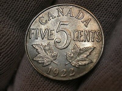 1922 Canadian Five Cent Nickel